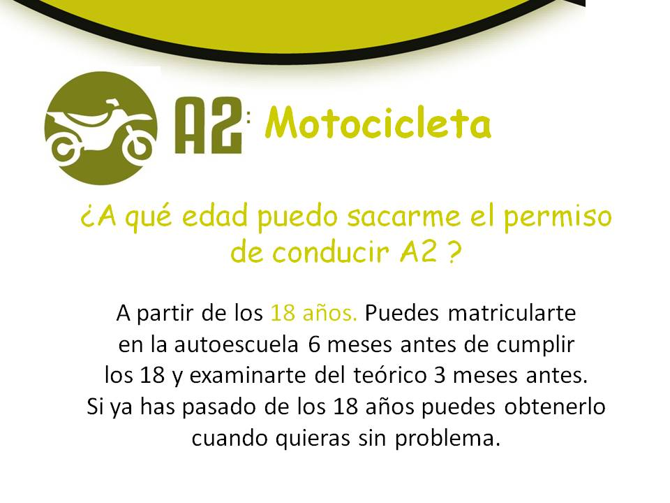 carnet de moto a2 requisitos edad