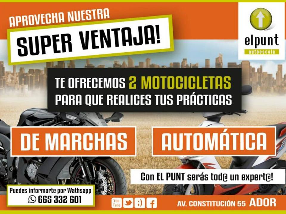 carnet a 2 scooter o marchas